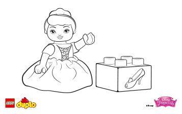 LEGO DUPLO Cinderella coloring