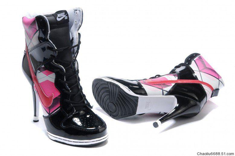nike dunk high heels for women