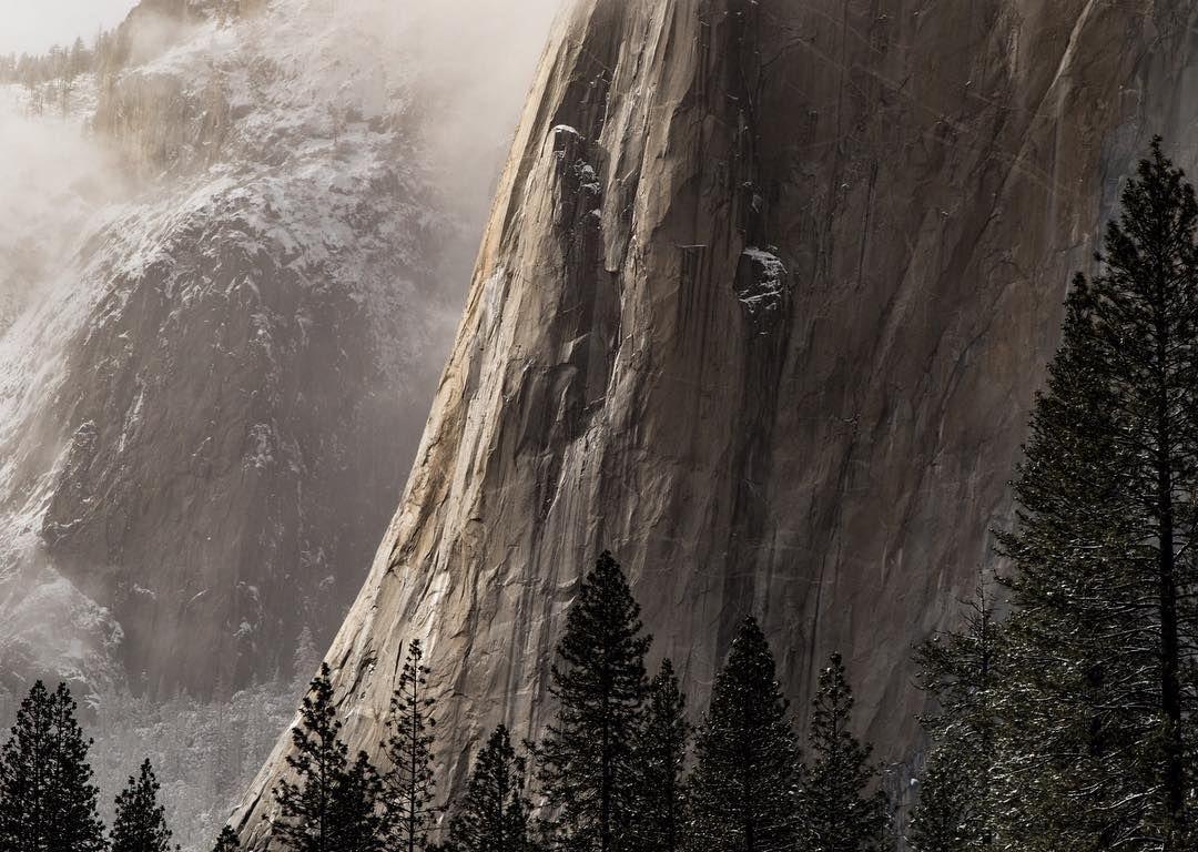 Yosemite In Winter El Capitan In Yosemite California