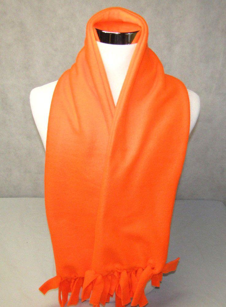 15a079343f597 Scarf Custom Made Double Fleece Blaze Orange Hunting Sportsman Warm Winter  Adult #Handmade #Scarf