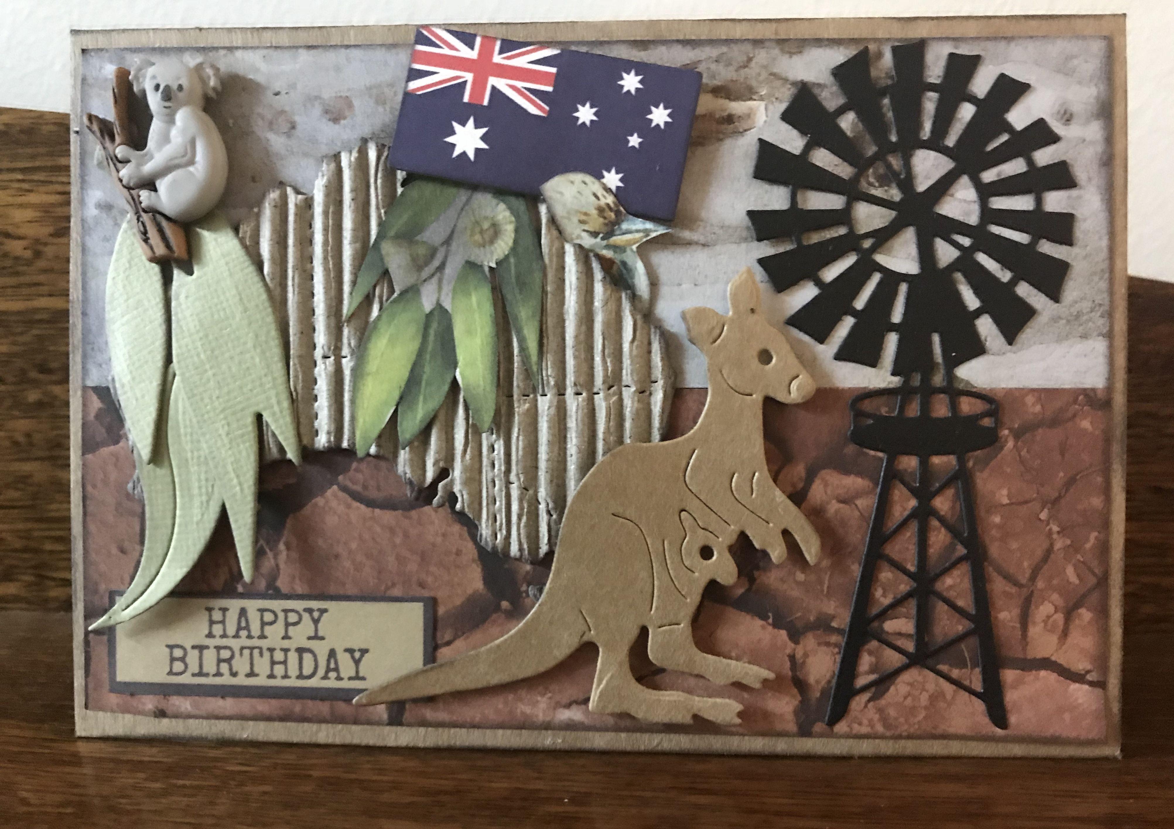 Australian Themed Birthday Card Christmas In Australia Farmers Cards