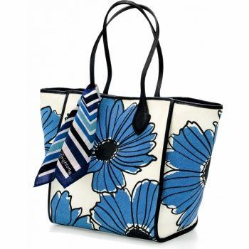 Turquoise Leather Pansy Handbag Charm
