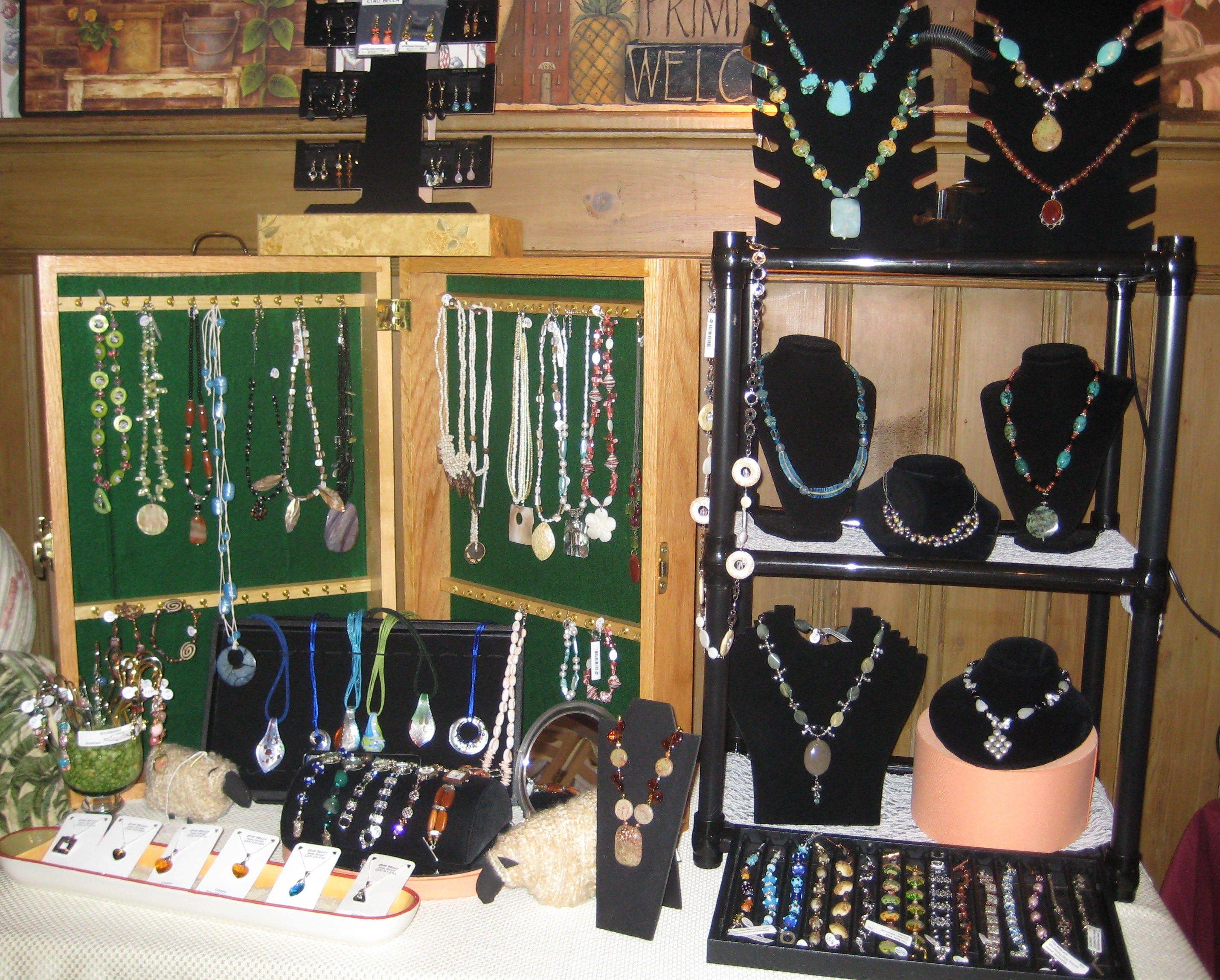 Annasjewelrydesigns On Artfire Com Jewellery Display Craft Show Displays Display