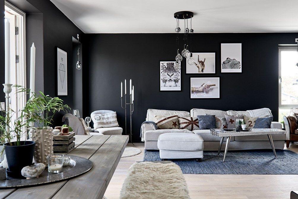 Paredes Negras En Todas Las Habitaciones Scandinavian