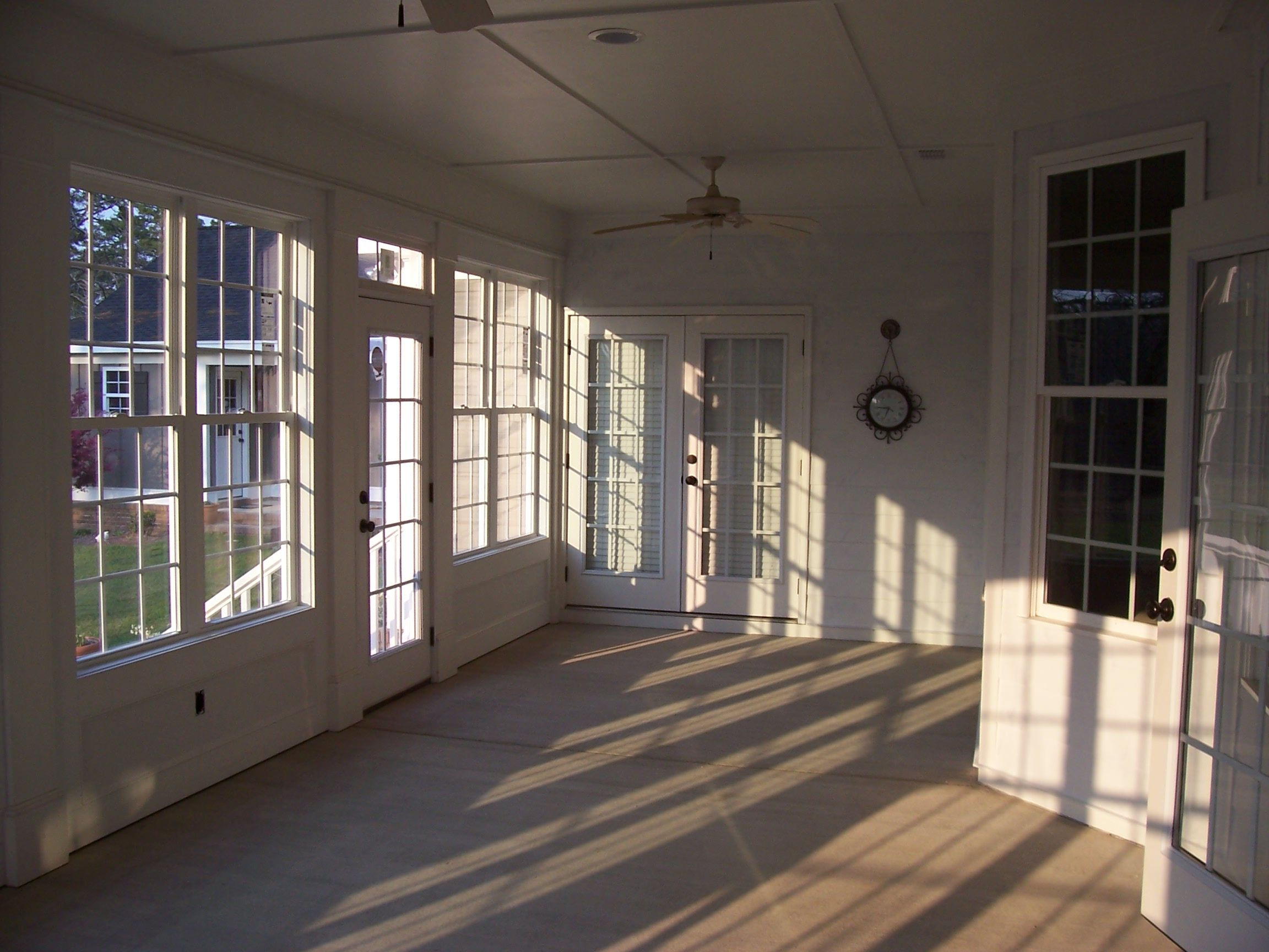 Remodel Project   Screen Porch Turned Into Sunroom/ Sun Porch Off Master  Bedroom. Wall