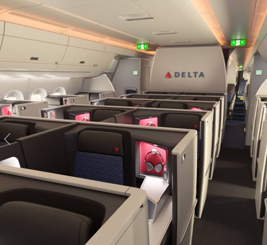 Delta Air Lines Airbus A350 Delta One private business class