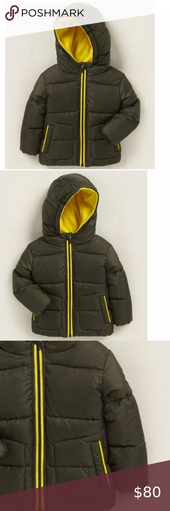 Michael Kors Boys Green Hooded Puffer Jacket 24 M Boys Puffer Jacket Girls Winter Coats Baby Girl Jackets [ 1740 x 580 Pixel ]