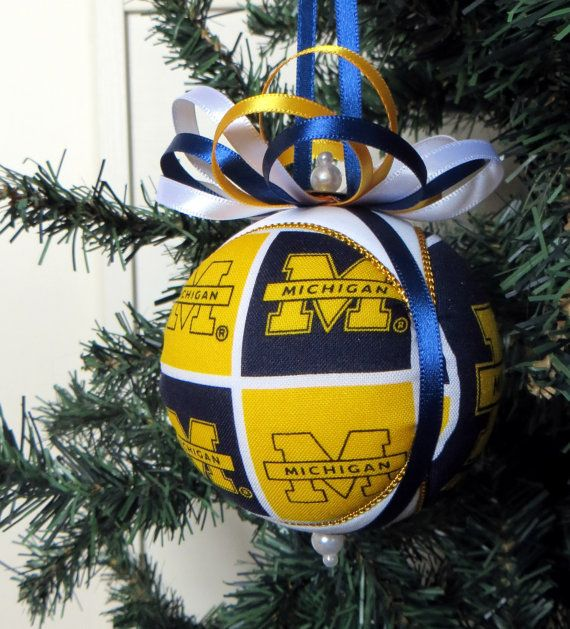 University of Michigan Christmas Ornament by OrnamentDesigns, $17.00 - University Of Michigan Christmas Ornament By OrnamentDesigns, $17.00