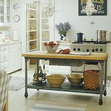 Repurposed kitchen island cuisine Pinterest Butcher block top