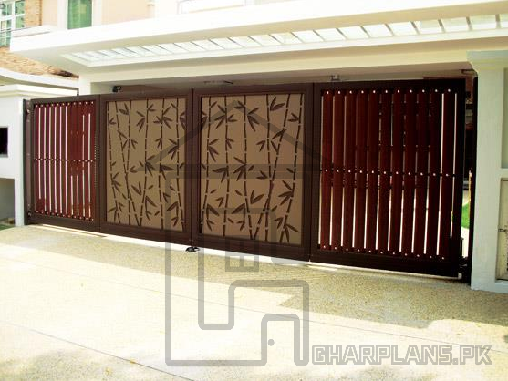 Main Gate Design In Dha Karachi Pakistan This Main Gate Design Is A Depiction Of Japanese Main Entrance Door Design Entrance Gates Design House Gate Design