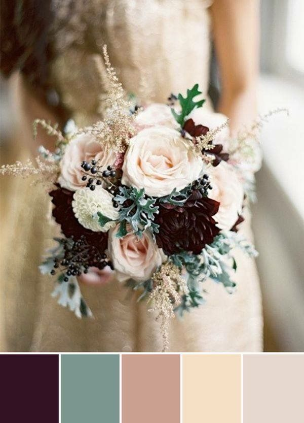 Plum And Colors Chic Wedding Ideas 2017 Trends I Really Like This Combo It Has Earthy Tones For Paul With A Bit Of Color You Ivory Goes Well