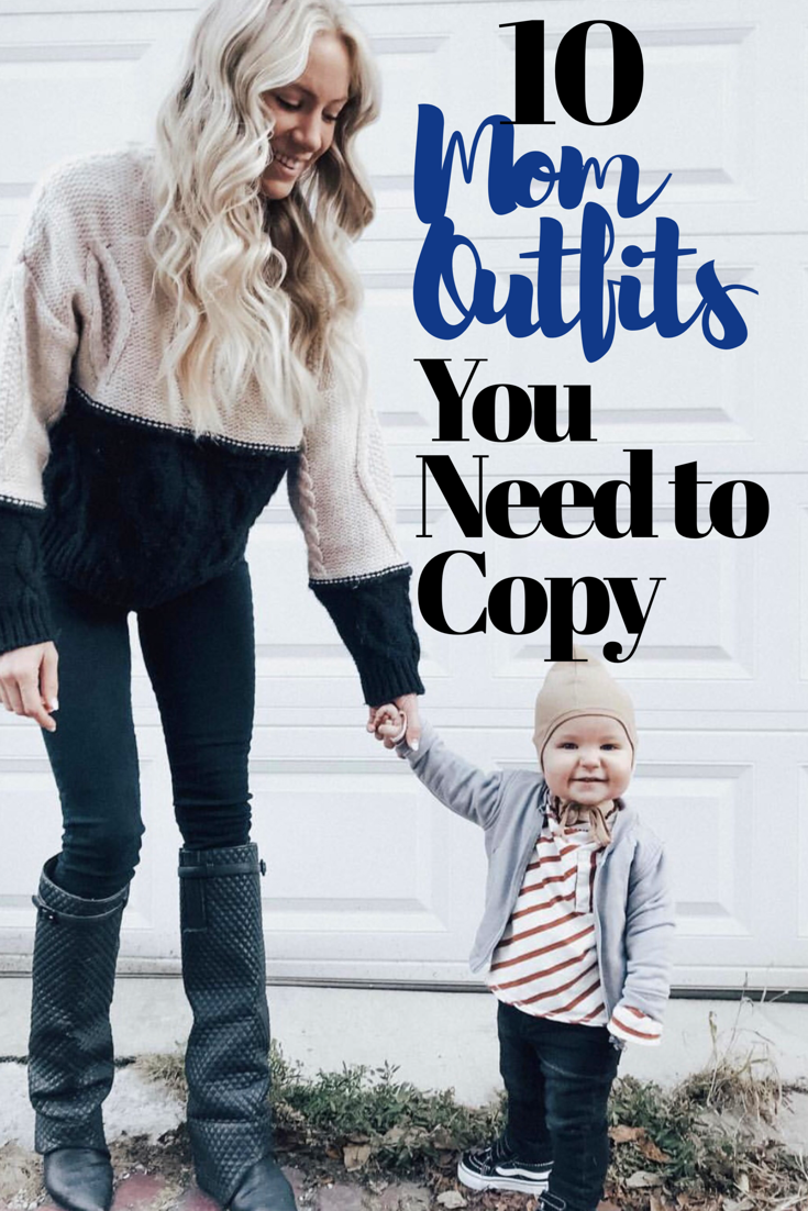 10 FALL & WINTER MOM OUTFITS YOU NEED TO COPY #falloutfitsformoms