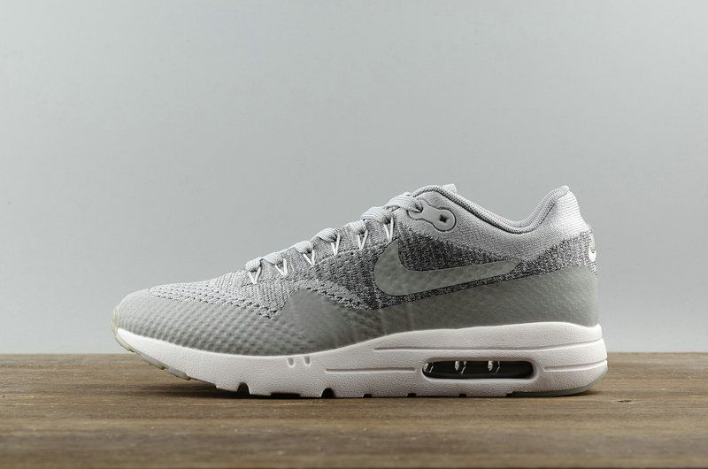new product 578fc c41ee Original Nike Air Max 1 Ultra Flyknit 2018 Fashion Lifestyle Shoe 843384--001  Wolf