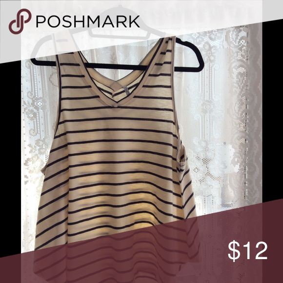Tank top Pretty striped tank top. Flowy and perfect for a summer night.  Tops Crop Tops