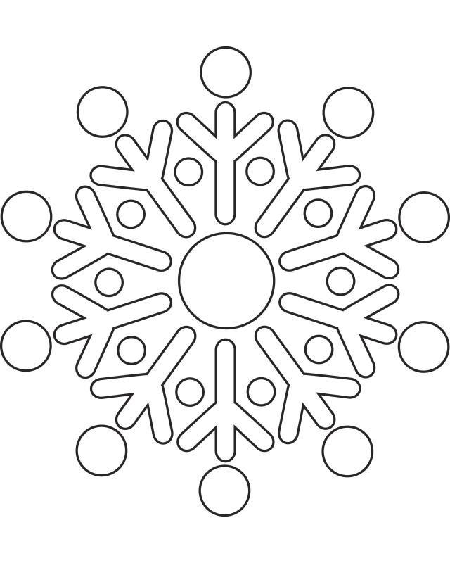 printable snowflake templates to create beautiful crafts snowflake 4 - Mandala Snowflakes Coloring Pages