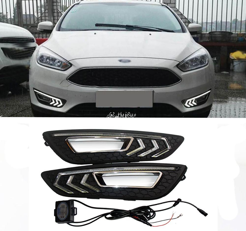 2x Drl Dimming Style Relay White Daytime Running Fog Light Lamps