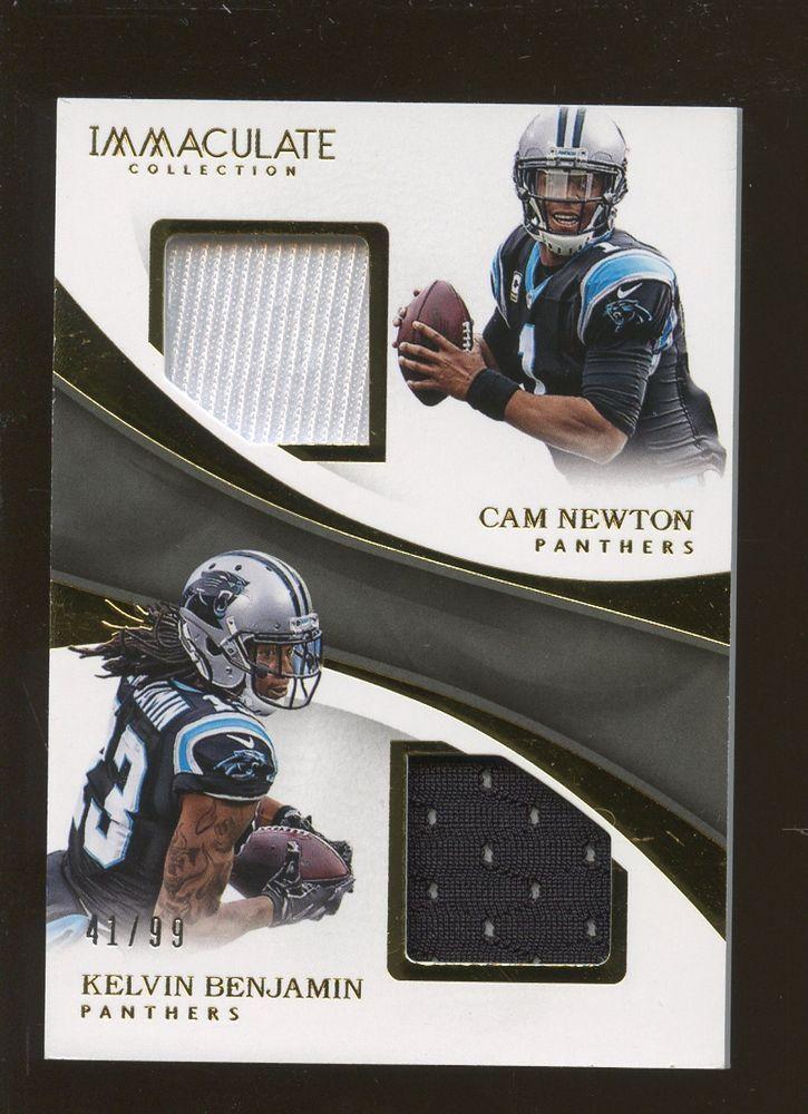 2017 Immaculate Cam Newton Kelvin Benjamin Panthers Dual