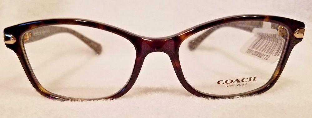 ec9e8640a1f7a Coach Eyeglasses HC6065 HC 6065 5291 Tortoise Military Signt. Optical Frame  51mm 725125932172