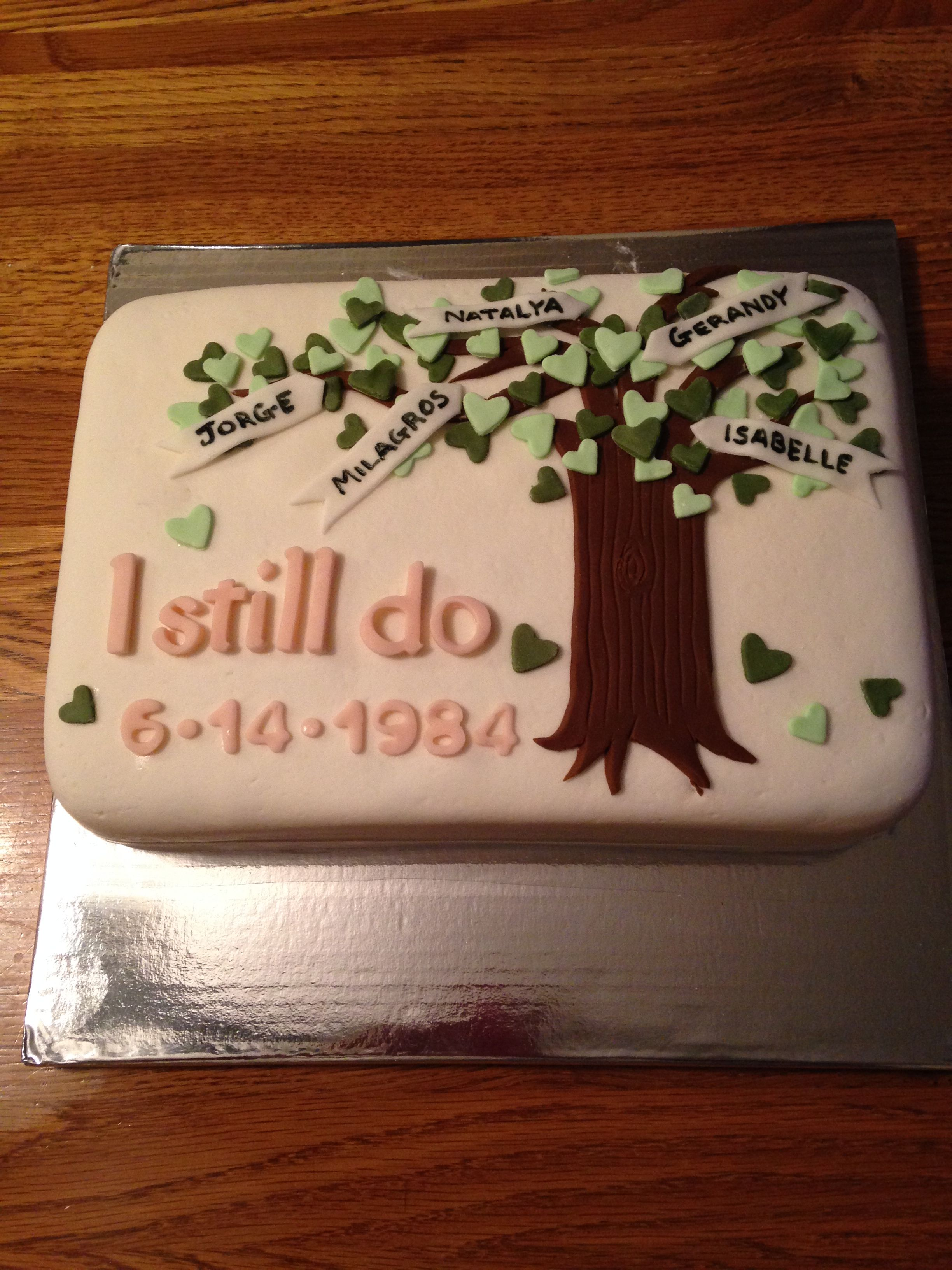 30th Wedding Anniversary Cake | My Cakes and Cupcakes | Pinterest ...