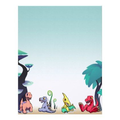 dino babies stationary letterhead baby gifts child new born gift idea diy cyo special unique