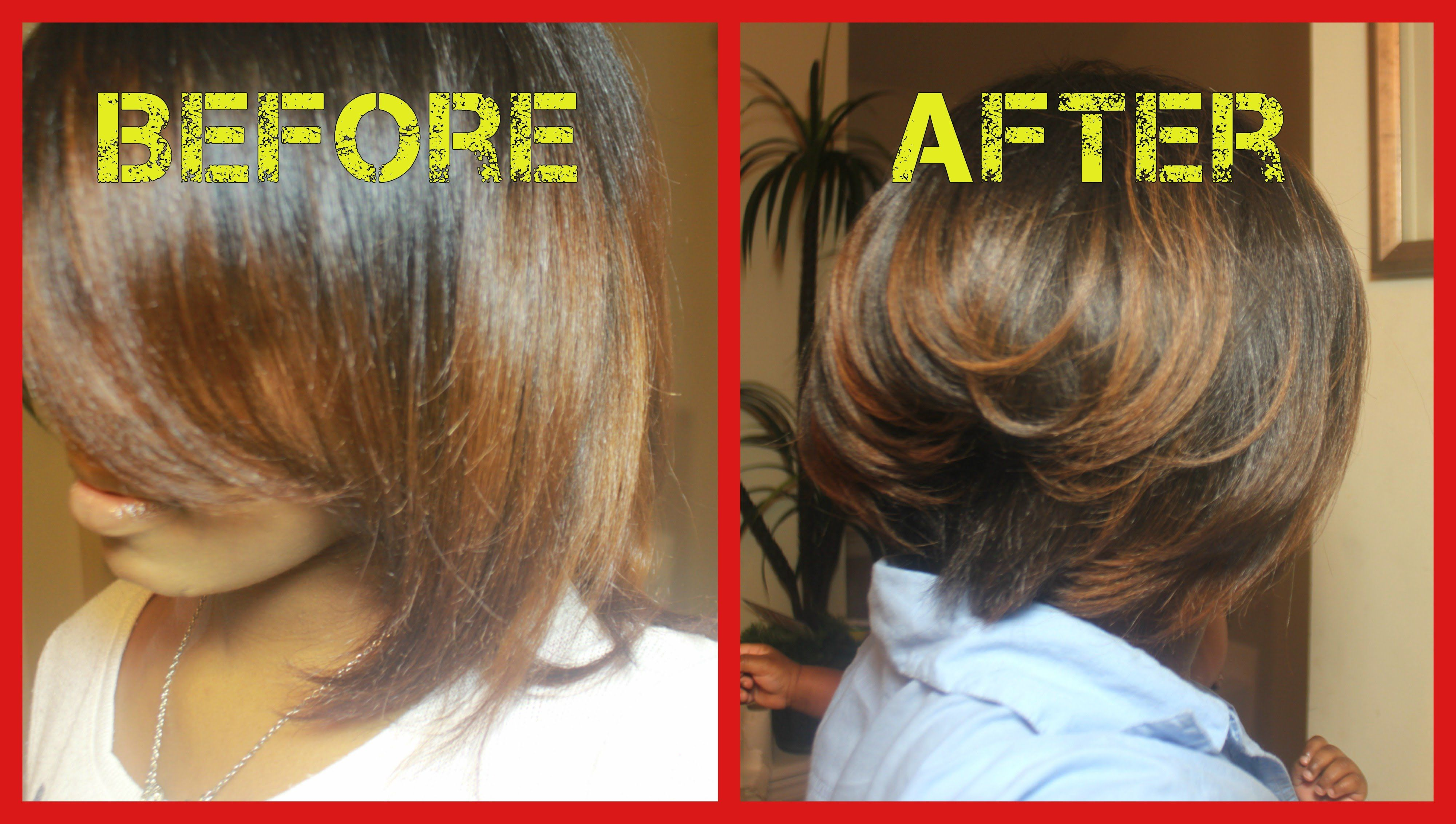 How To Cut Your Own Hair Bob No Weave Youtube Pinterest Hair