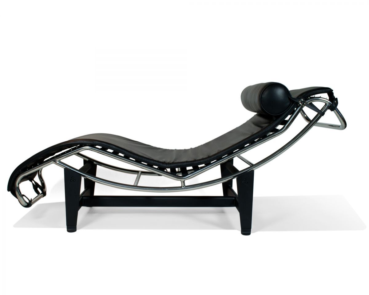 Rove Concepts Premium LC4 Le Corbusier Chaise Lounge Chair Features A  Simple Yet Effective Design.