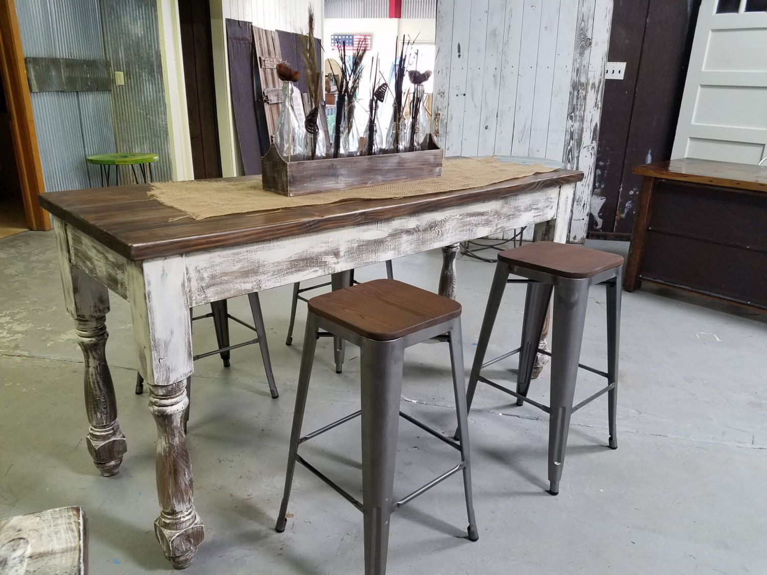 Excellent Rustic Ash Dining Table Made With Furniture Legs From Design Download Free Architecture Designs Rallybritishbridgeorg