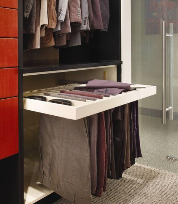 Closet Features That Make Storage A Breeze : Pants Storage #calclosets  #design