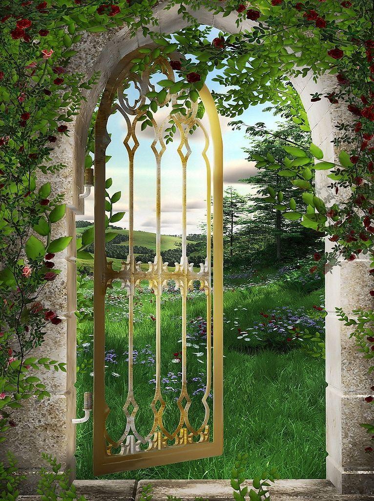 сказочные двери и окна картинки