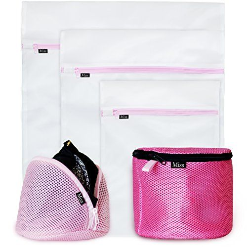 New Premium Delicates Wash Bags Set Of 5 By Miss Co Mesh Garment