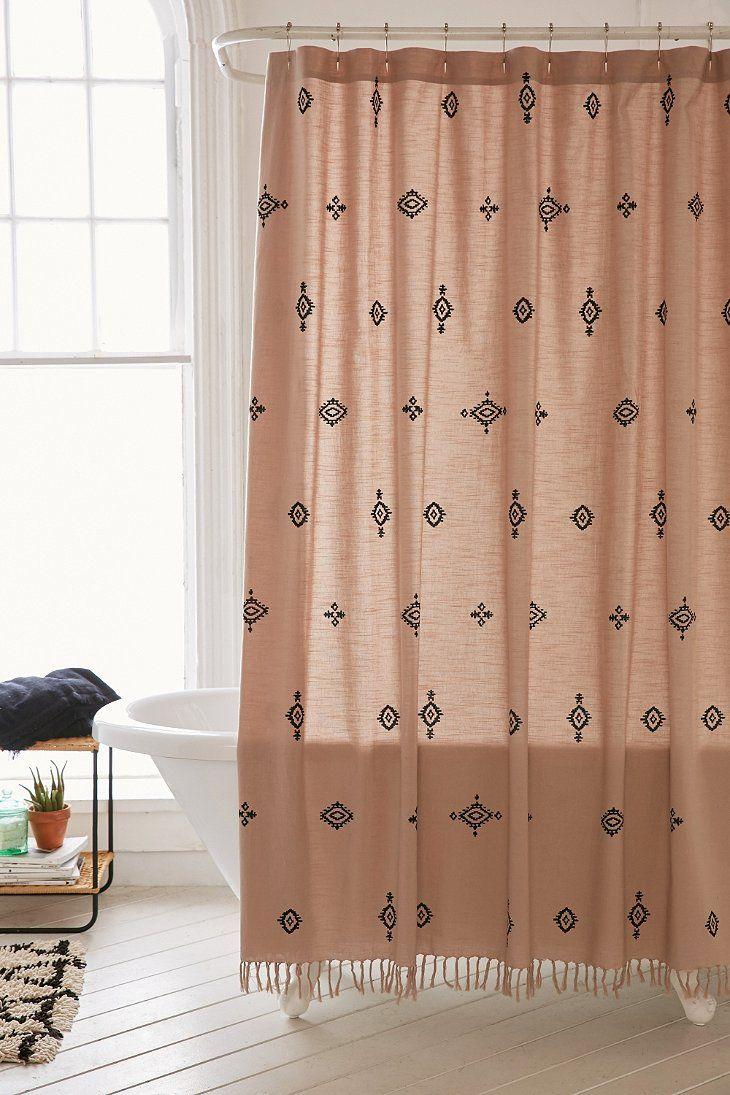 Shower Curtain Liner Bohemian Style Bathroom Boho Shower Curtain Urban Outfitters Curtains