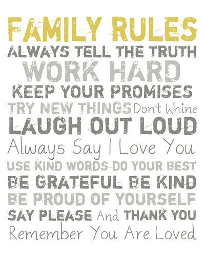 'Family Rules'