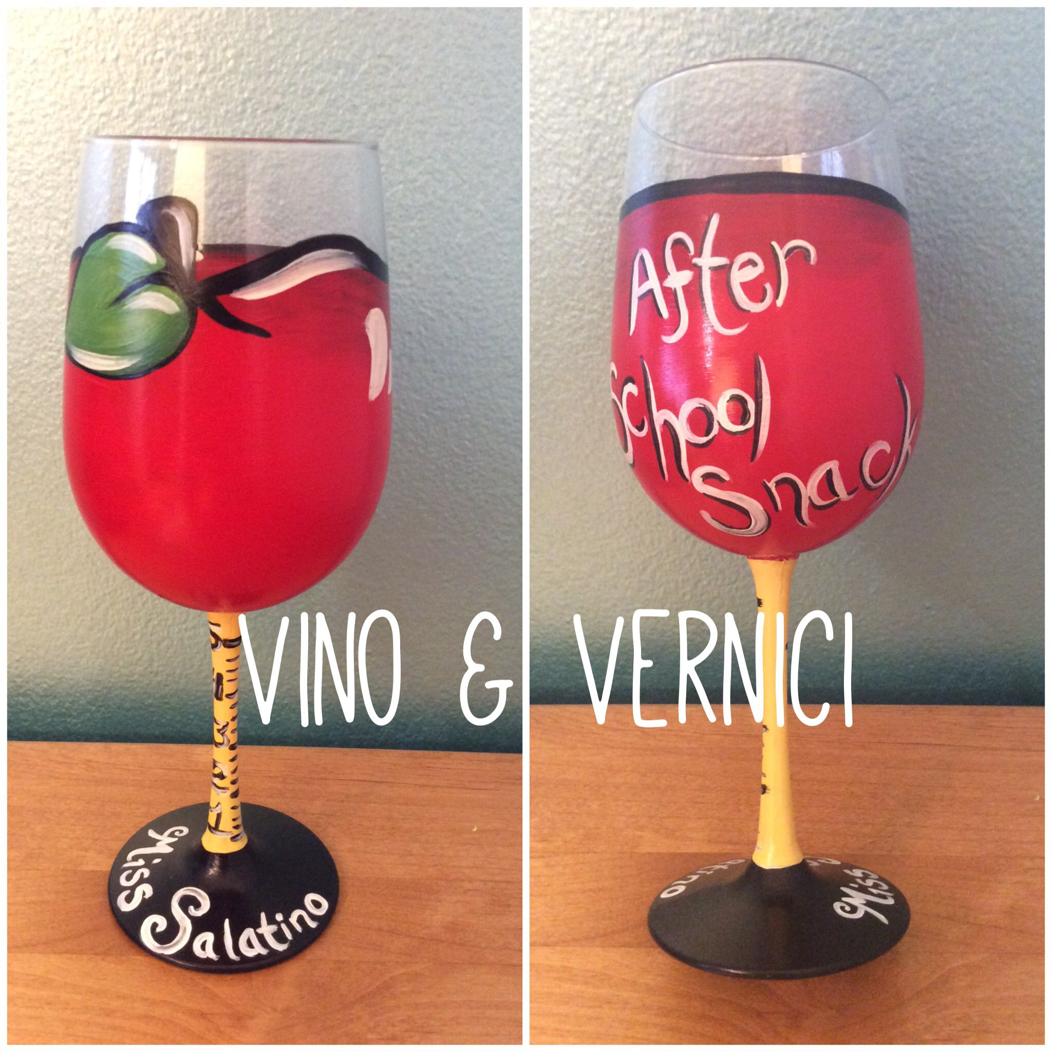 Teacher Wine Glass Teacher Appreciation Day Vino Vernici Teacher Wine Glass Wine Glass Designs Diy Wine Glasses