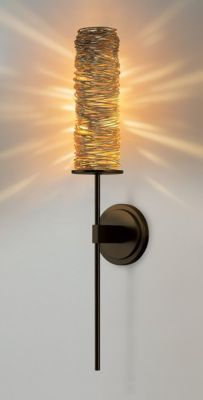 Coil Long Wall Sconce Wall Sconces Stone Lighting Bronze Wall