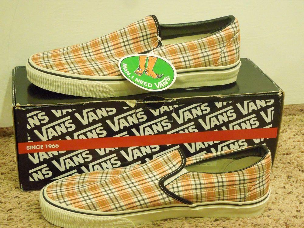 0908113379 Vans Classic Slip-on HunterlyPlad Men size 10   Women 11.5 Shoes ...