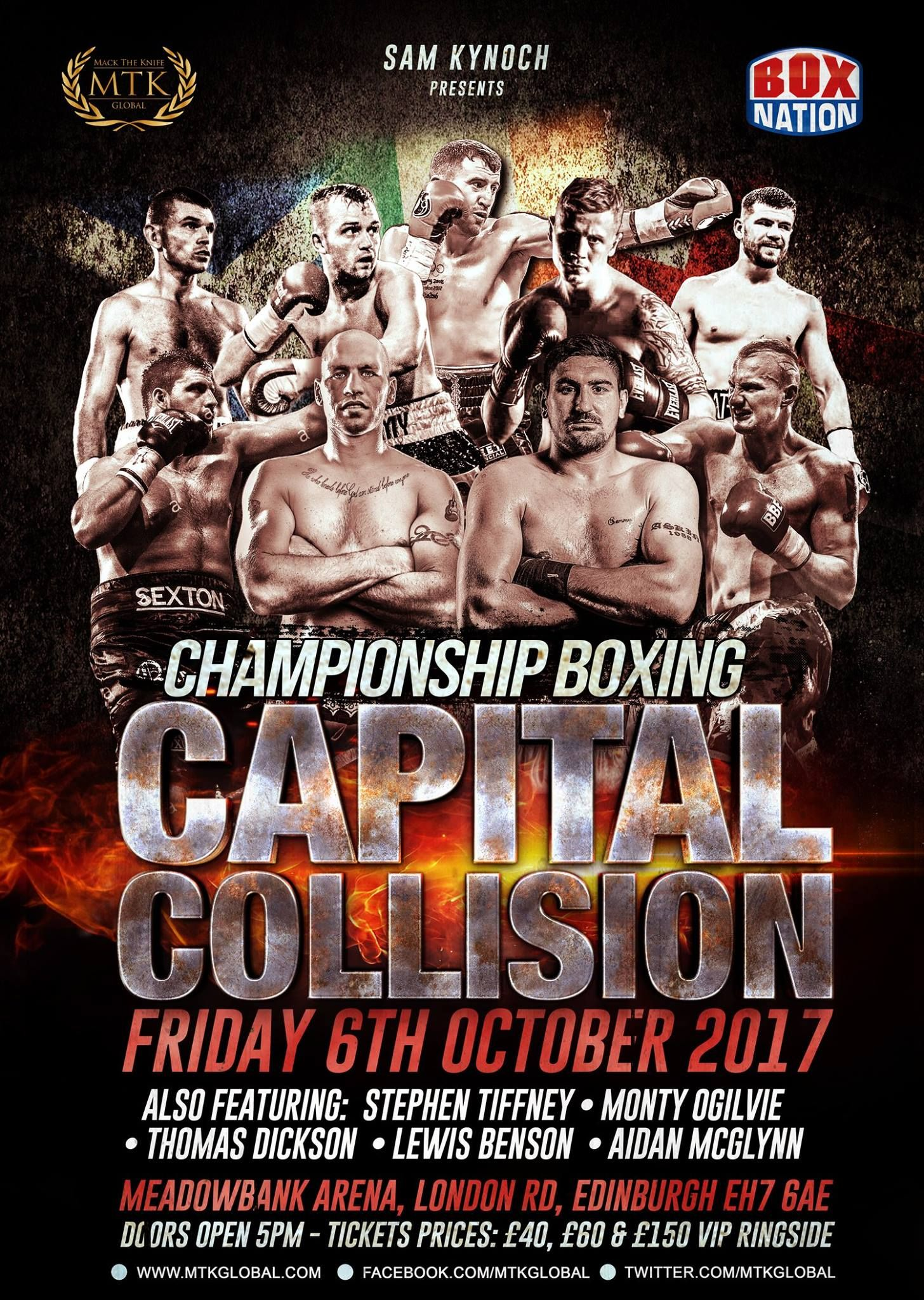 The Full Line up for 'Capital Collision' Boxing Event  It's set to