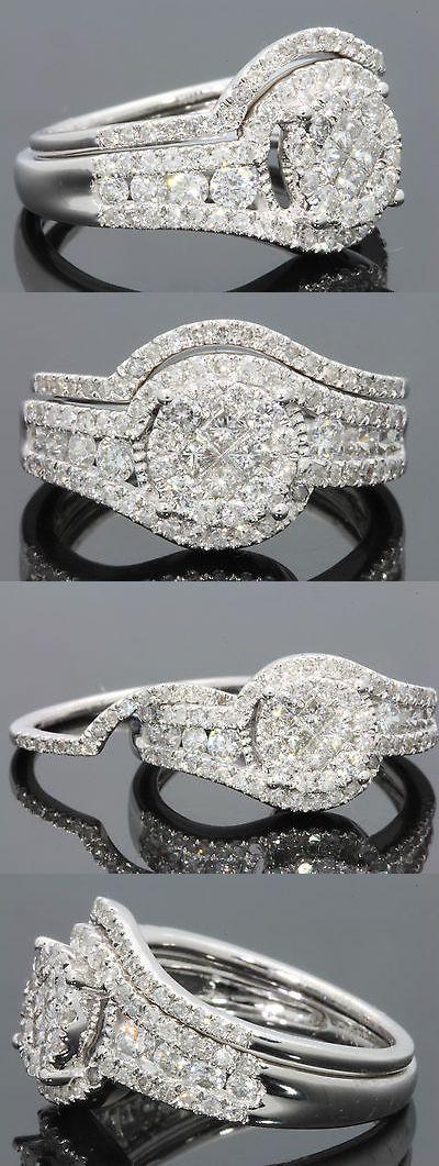 Wedding Rings 10k W Wedding Rings 10k White Gold 1 34 Carat Women Diamond Engagement Ring We Engagement Ring Wedding Band Wedding Ring Designs Wedding Rings