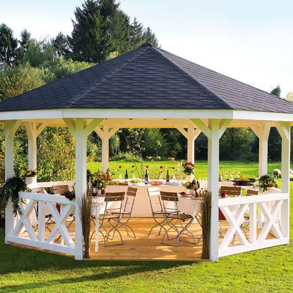 Kiosque pavillon en bois fsc carré holm 1 431x431m karibu maison facile www maison facile com kiosque de jardin pinterest backyard and