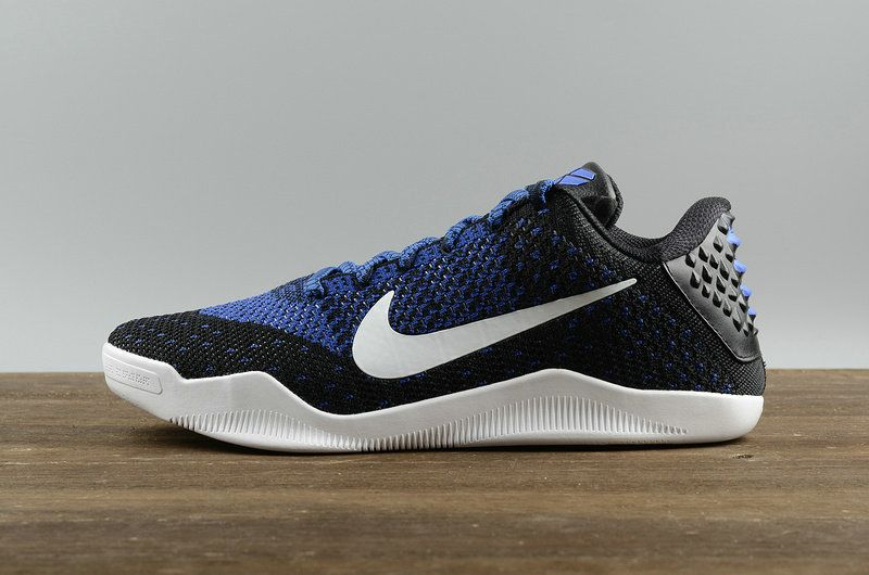 Popular Nike Kobe XI 11 Elite Low Black White-Racer Blue Mens Basketball  Shoes 822675-014 1f9da0284