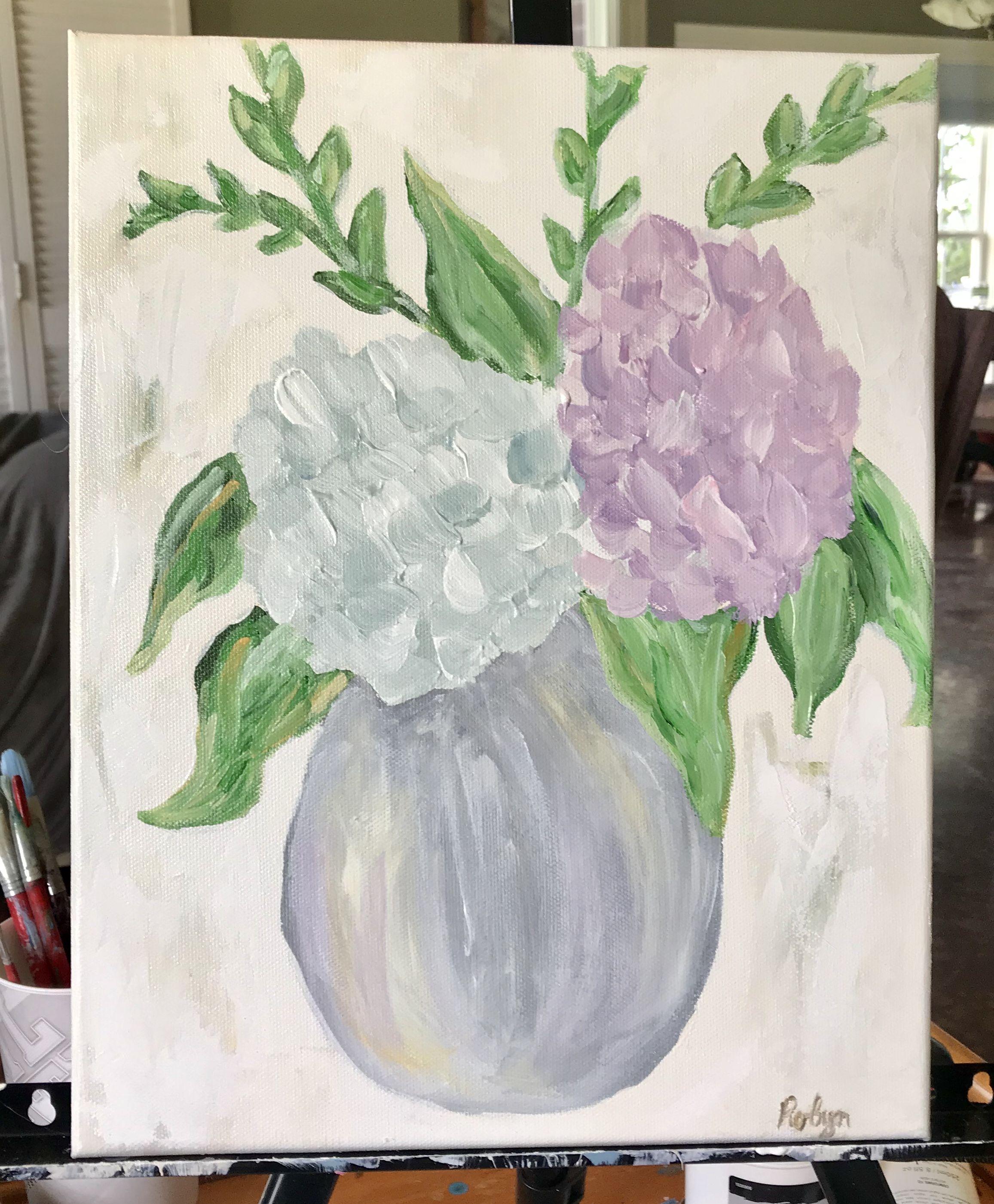 Flower Acrylic Painting Acrylic Painting Art