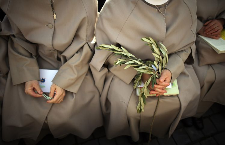 Nuns pray as Pope Francis prepares to deliver his blessing to the palms in St. Peter's Square(Getty) It is Palm Sunday today, marking the start of the Christian Holy Week. When is Easter 2017? Dates for Good Friday, Easter Sunday and Easter Monday Christians around the globe will head to...
