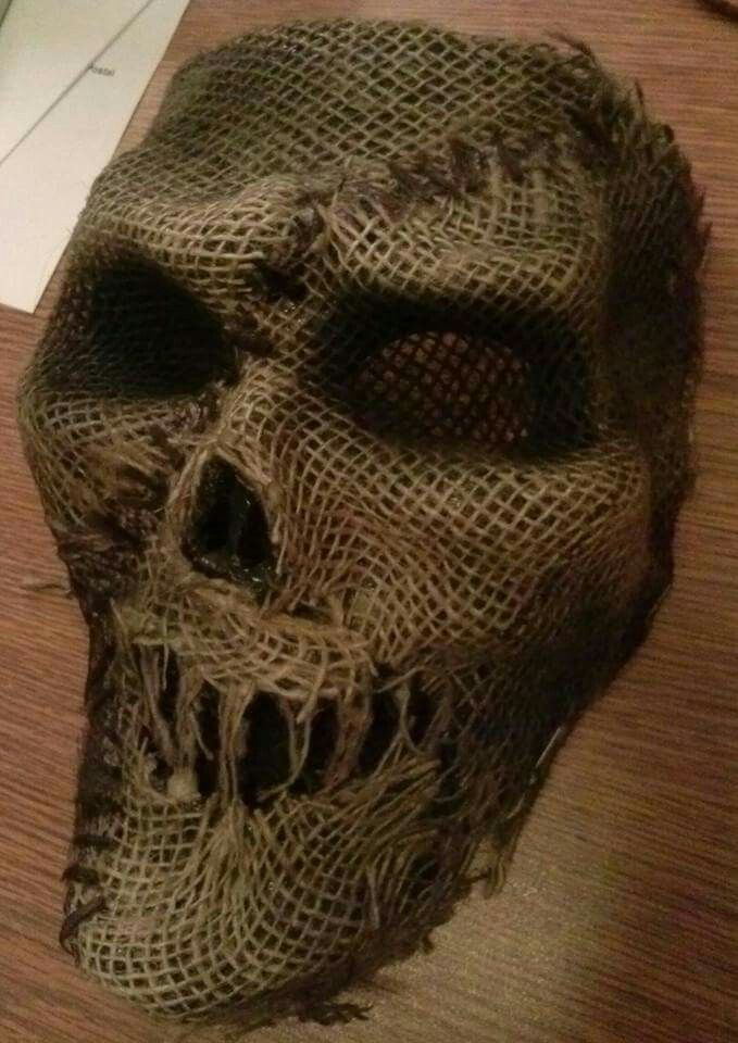 $1 store mask with canvas glued on halloween in 2018 Halloween
