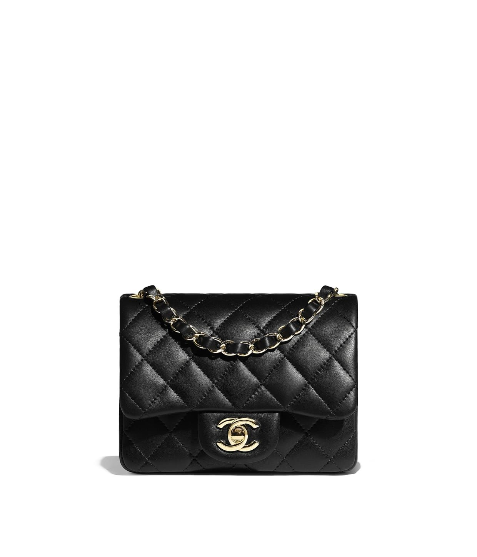 f659adfe71de1 Discover the CHANEL Lambskin   Gold-Tone Metal Black Mini Flap Bag