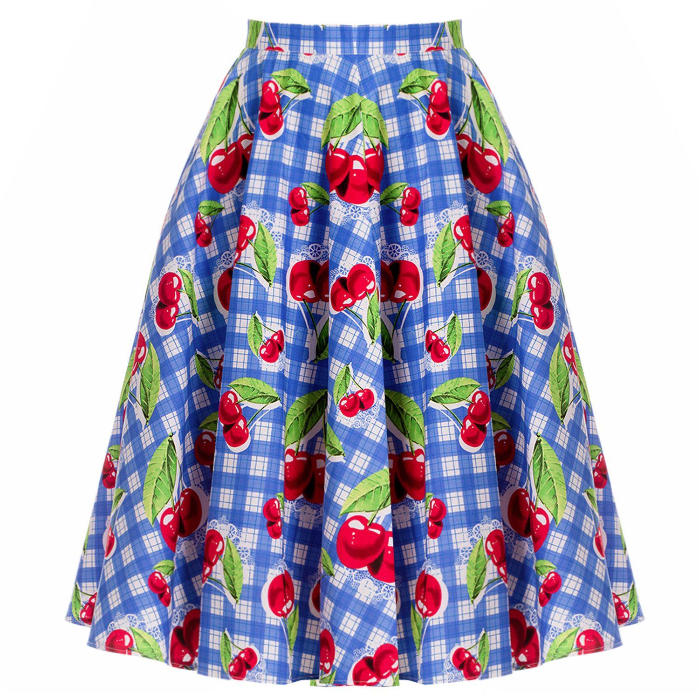 August Cherry Picnic Skirt Closet Confessions Boutique