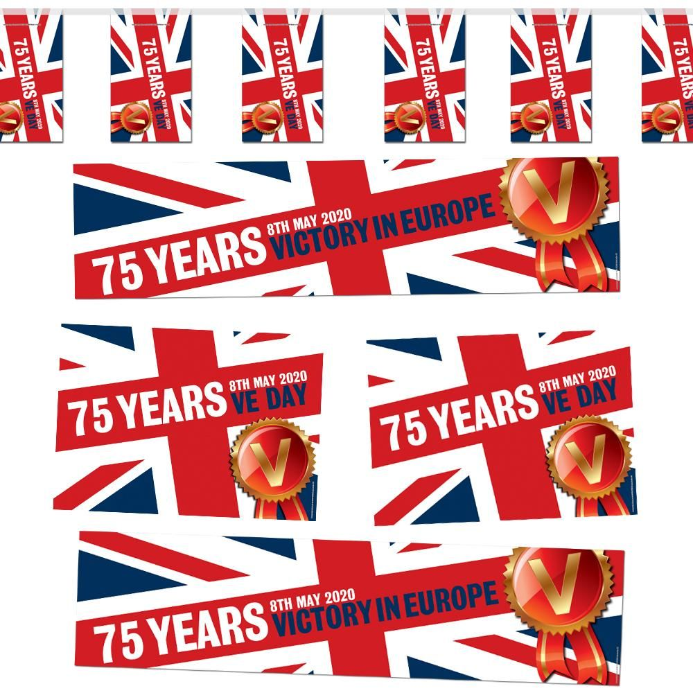 VE Day 75 Years 2020 Union Jack Decoration Party Pack | Union jack ...