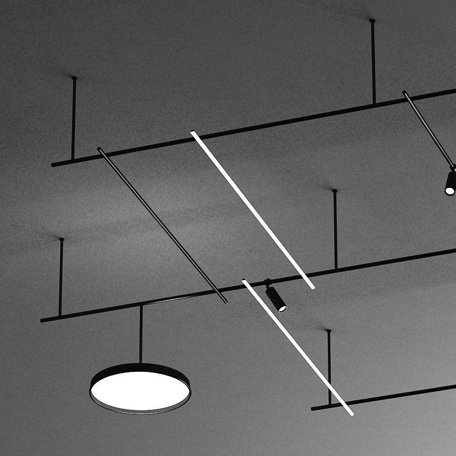Infra Structure By Flos 3d Model Dimensions 715 320 95 Cm Files Max2012 3ds Dwg Obj Fbx Revit Family 7 00 Ceiling Light Design Flos Flos Light