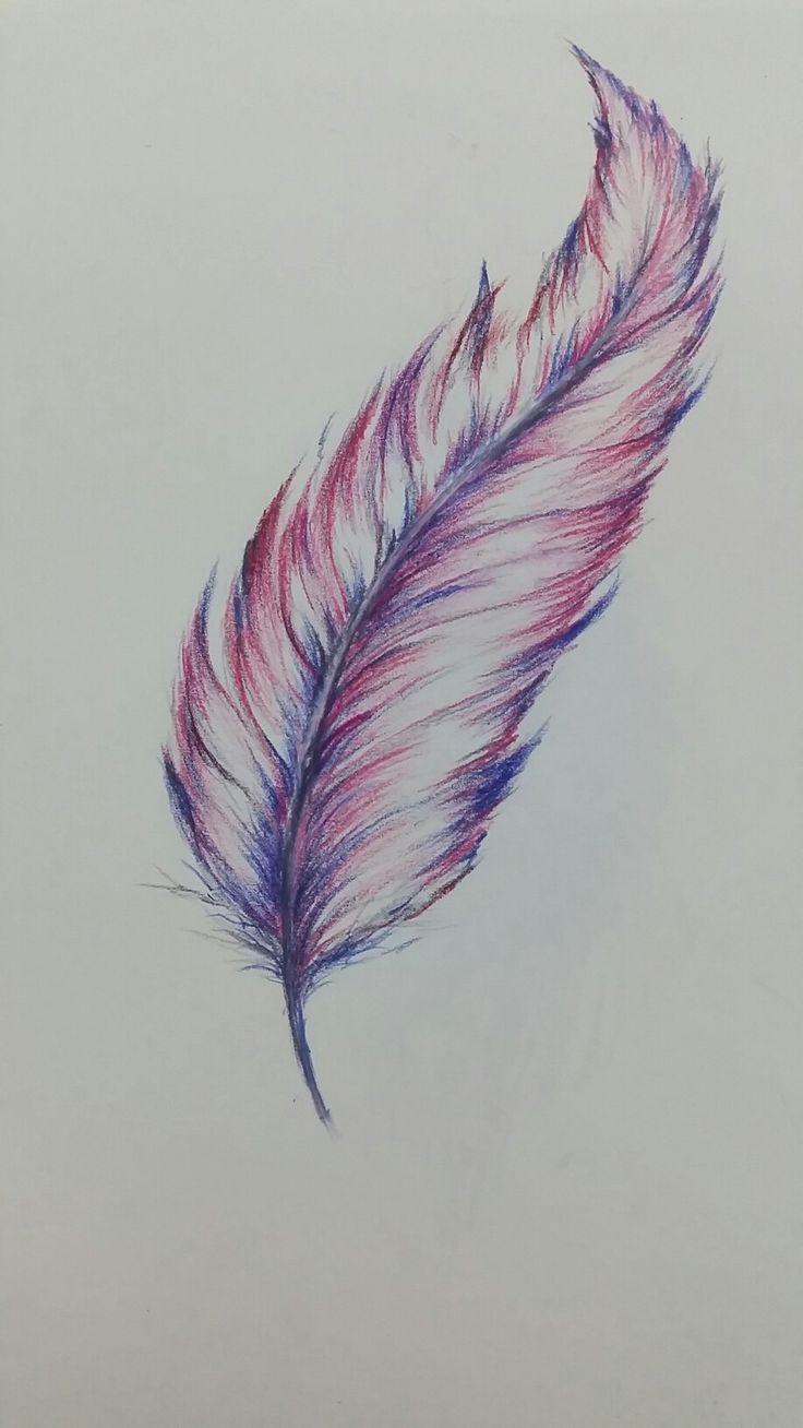 Farbstift Feder Zeichnungen Bleistift Einfach Zeichnungen