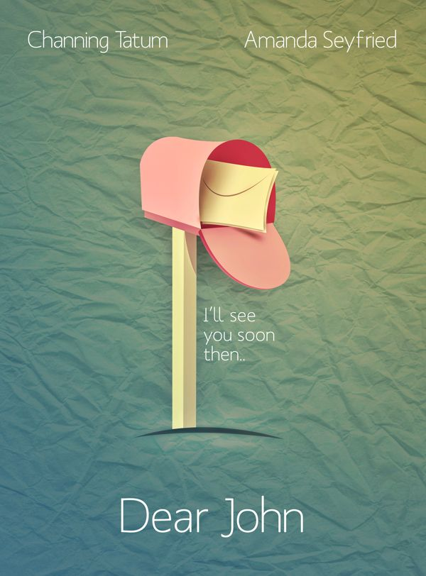 Dear John (2010) ~ Minimal Movie Poster by Shahbaz Mehdi # ...