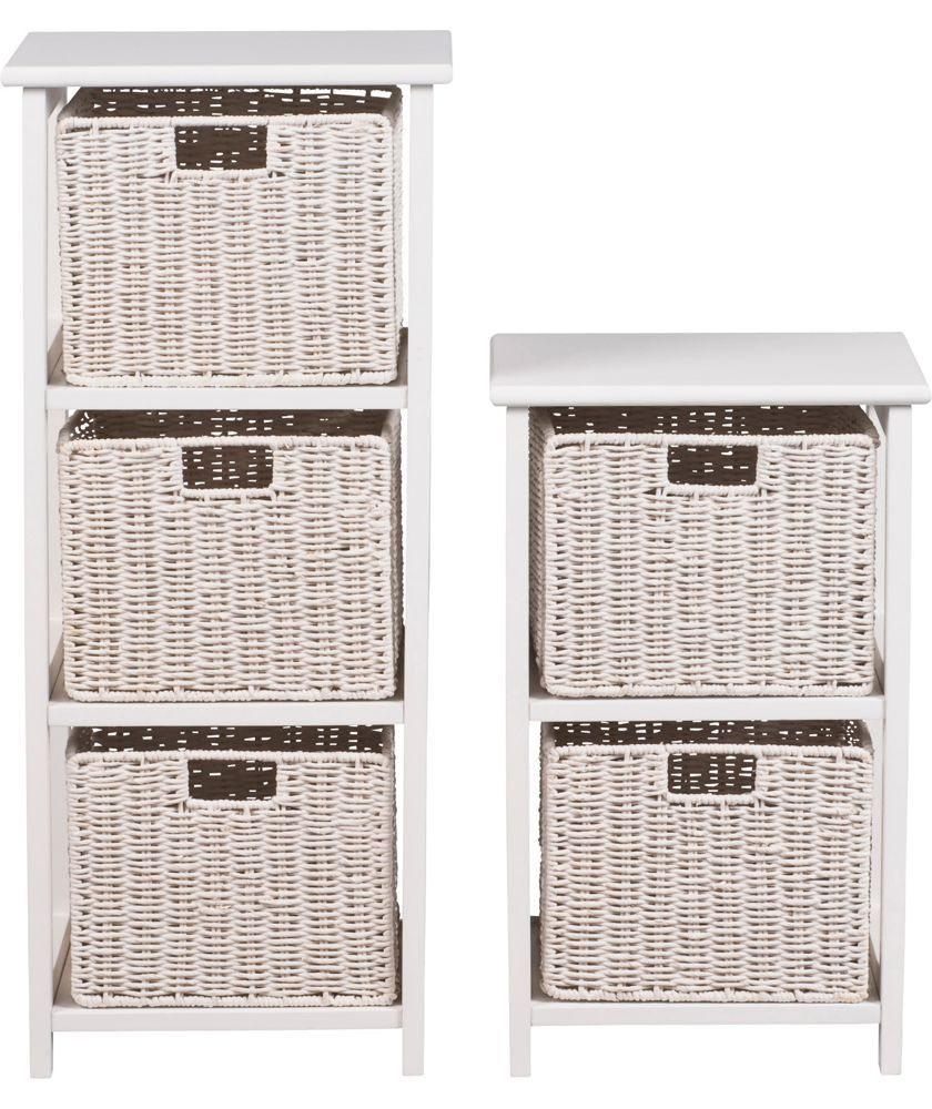 3 Basket Drawer Bathroom Storage Unit Cabinet White buy collection 2 and 3 drawer unit - white at argos.co.uk - your