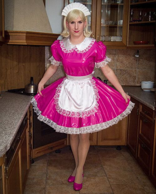 These maid dress i love to wear an pink is my color - These Maid Dress I Love To Wear An Pink Is My Color Frills And